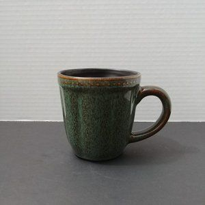 Roscher Hobnail Stoneware Green Brown Mug/Cup